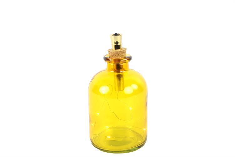 בקבוק עם נורות לד