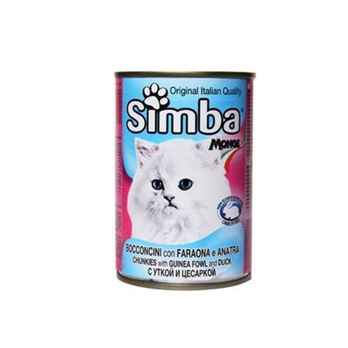סימבה לחתול 400 גר שימורי פנינית וברווז