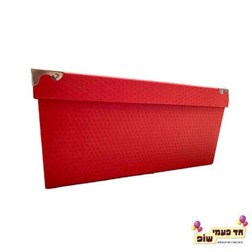קופסא מתכת אדום מידה 6