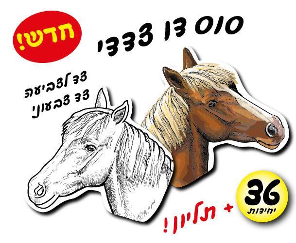 ביאליק עבודת יצירה סוס לצביעה + תליון