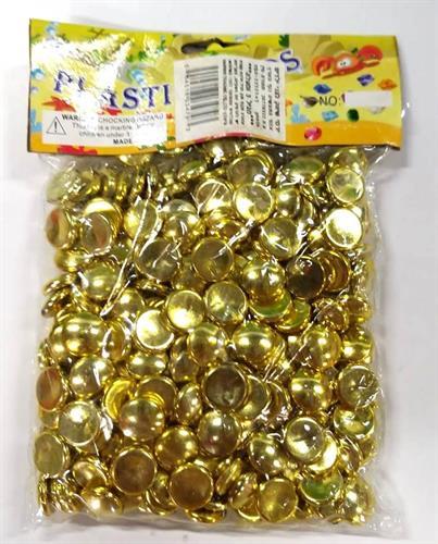 אבנים זהב עגולות ליצירה