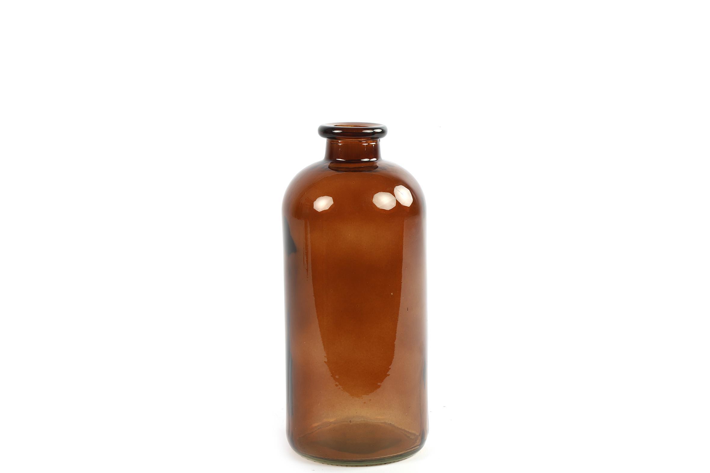 בקבוק זכוכית בגוון חום M