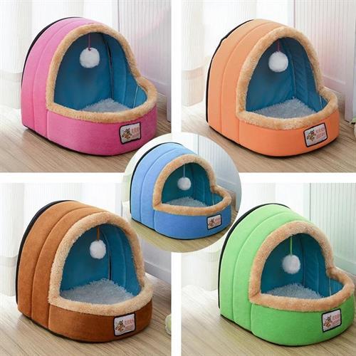 מיטה לכלב גזע קטן ננסי או חתול צבע ורוד