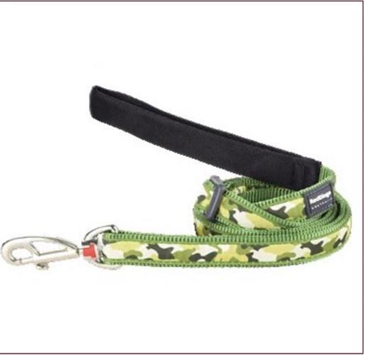 רצועה מעוצבת ירוק צבאי -L- לכלב בינוני גדול