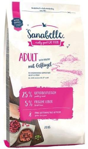 """4015598009874 מזון יבש לחתולים בוגרים מבוסס עוף 10 ק""""ג Sanabelle"""