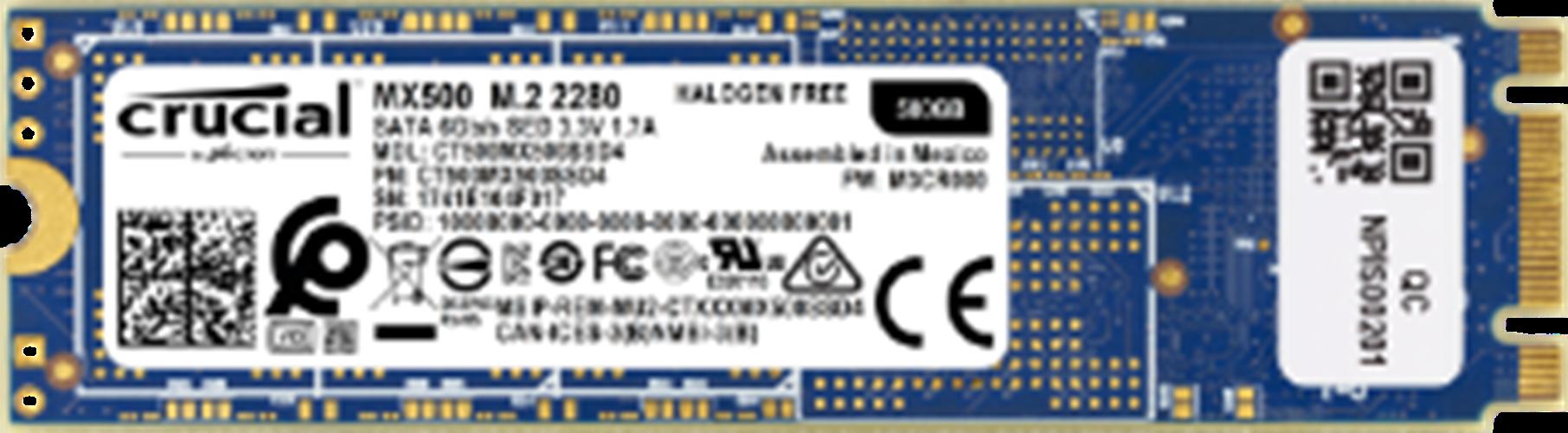 דיסק CRUCIAL MX500 SSD 500GB M2 2280 CT500MX500SSD4