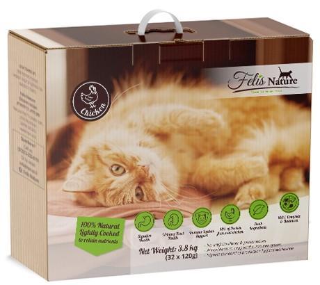"Felis Nature - Chicken recipeפליס נייצ'ר  מתכון עוף לחתולים  3.8 ק""ג"