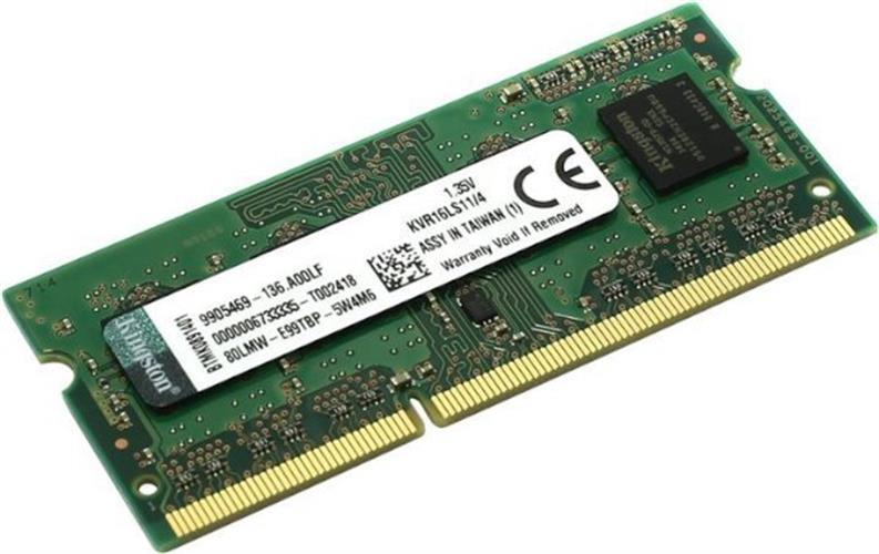 זכרון לנייד Kingston 1.35V DDR3 4GB 1600Mhz