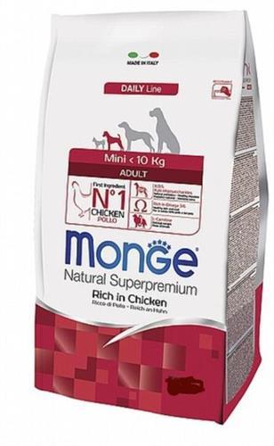 MONGE מיני אדולט עוף 7.5 קג  לכלב