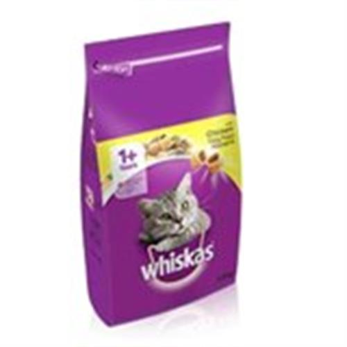 """מזון יבש לחתולים לבוגרים בקר 3.8 ק""""ג Whiskas"""