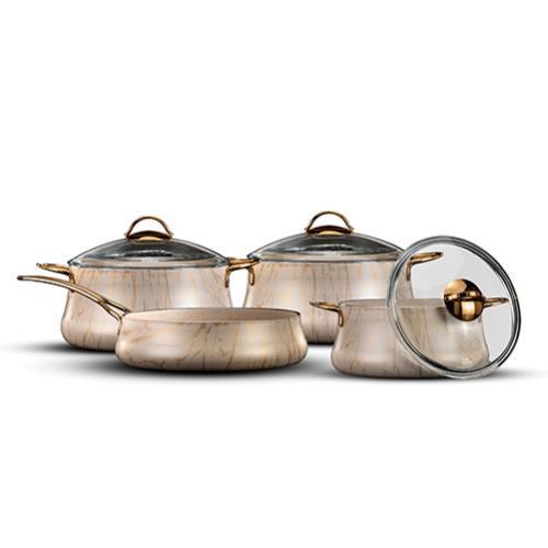 סט סירים פוד אפיל 7 חלקים  (Food Appeal) ROYAL SWAN GOLD
