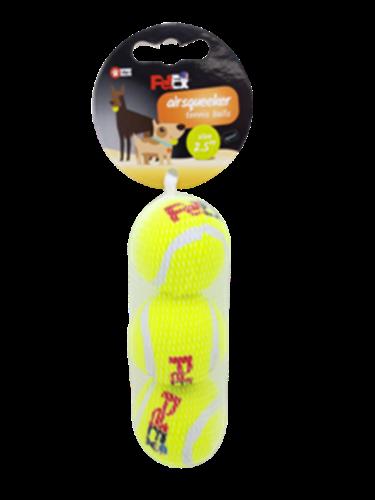 מארז כדורי טניס מצפצף 2.5 אינץ 3 יח' במארז