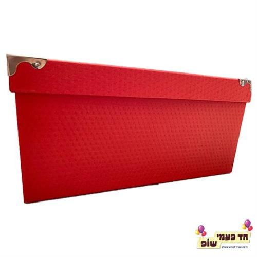 קופסא מתכת אדום מידה 9