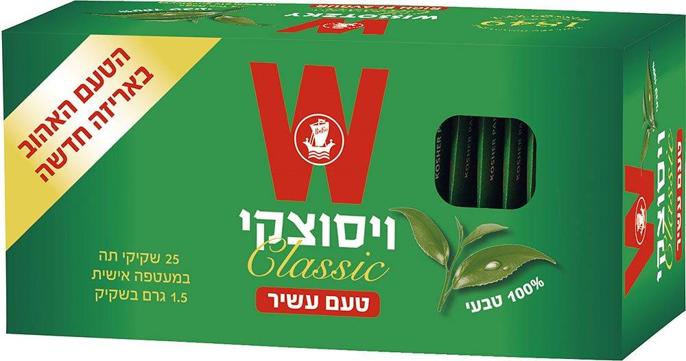 תה ויסוצקי קלאסי 1.50 גרם 25 שק