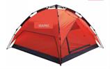 אוהל משפחתי ל-4 אנשים מנגנון פתיחה מהירה אוטומטי אוהל 3 עונות שתי שכבות, ציפוי כסף אנטי UV פנימי