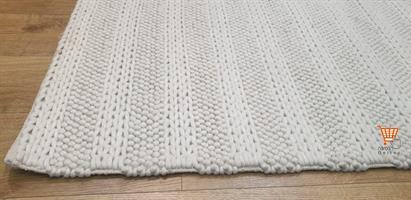 שטיח צמר הודי לבן