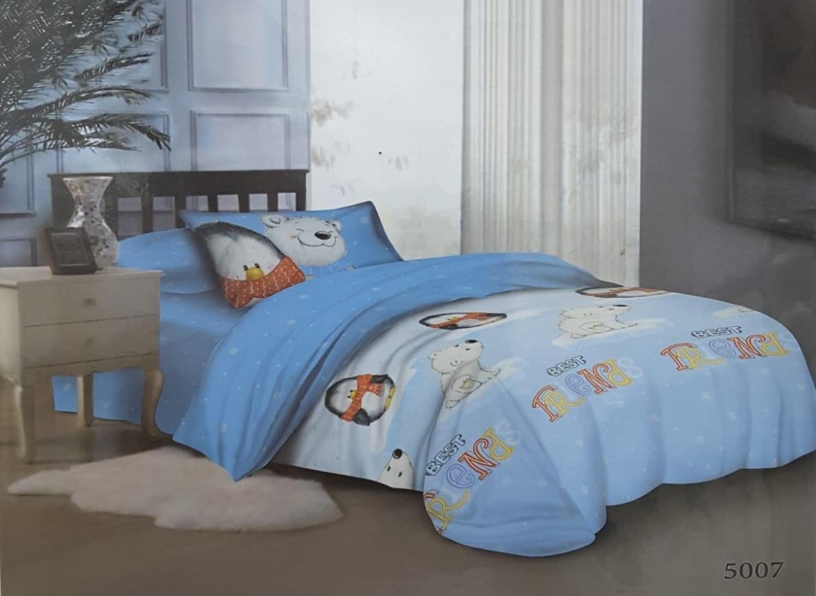 מצעים לילדים 100% כותנה סרוקה למיטת יחיד - רומנטקס Joy&more דגם 5007