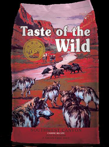 "07419867229 Taste of the wild מזון יבש לכלבים חזיר בר במשקל 12.2 ק""ג"