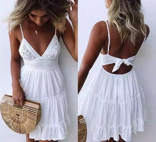 שמלה קייצית לבנה