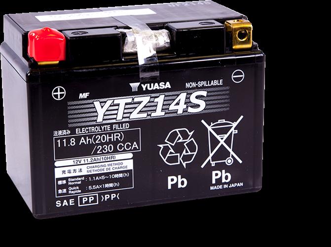 מצבר לאופנוע 11.2 אמפר ytz14s/ttz14s