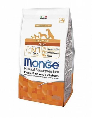 "MONGE- אדולט ברווז אורז ותפו""א 12 קג.  All breeds"