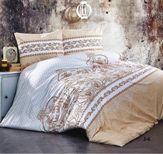 מצעים 100% כותנה סרוקה למיטת יחיד - רומנטקס Joy&more J6