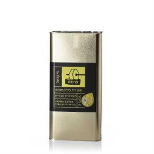 שמן זית כתית מעולה כרמא  ראשון המסיק - פיקואל, פח 5 ליטר