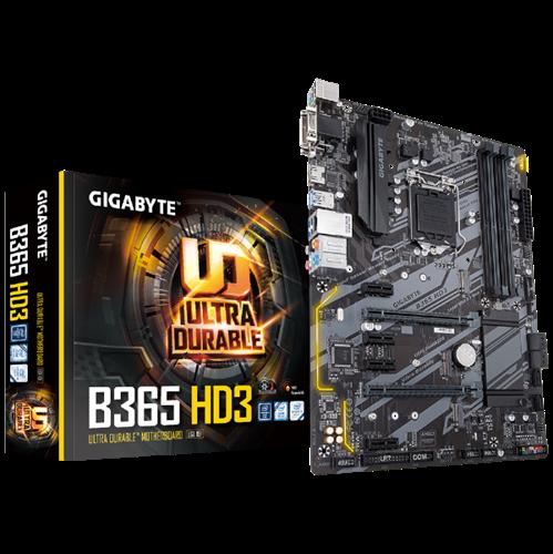 לוח אם למחשב נייח מבוסס אינטל למעבדים דור 8 ו9 Gigabyte B365 HD3