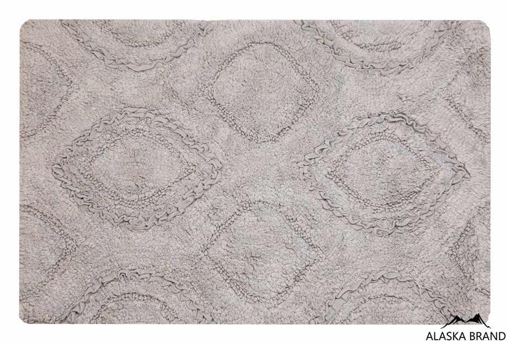 שטיח אמבטיה נטע כביס 100% כותנה - אפור