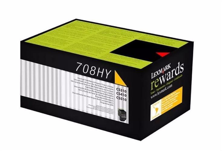 טונר צהוב מקורי למדפסת 70C8HY0   Lexmark CS-310,410,510
