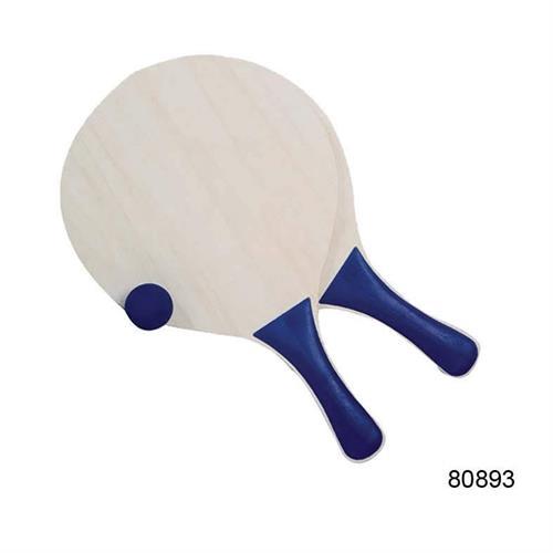 סט מטקות עץ וכדור כחול