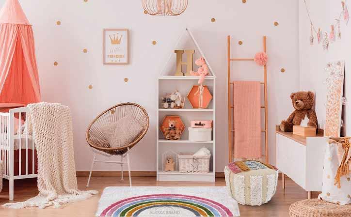שטיח קשת פרמה לחדרי ילדים - נעים למגע