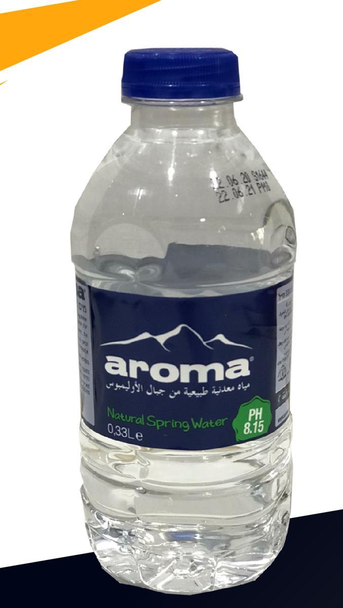 """מים ארומה מינרליים 330 מ""""ל 1/24"""
