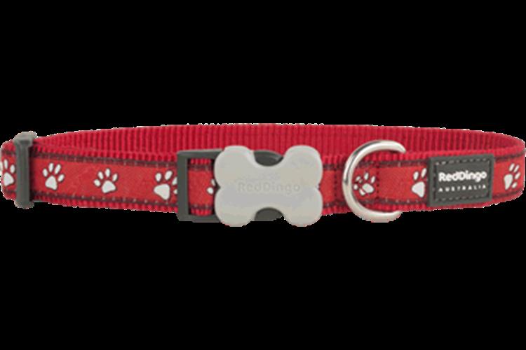 קולר מעוצב לכלב L. אדום עקבות