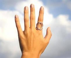 טבעת לולאות - כסף אמיתי