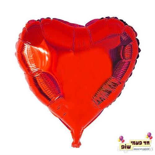 בלון לב 18 אינץ' אדום (ללא הליום)