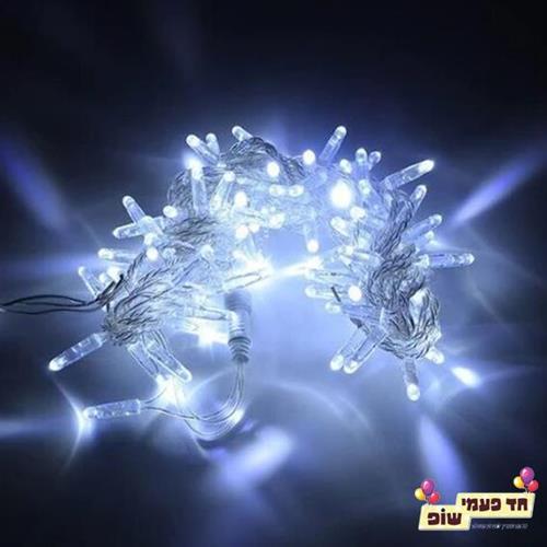 שרשרת אורות לבן