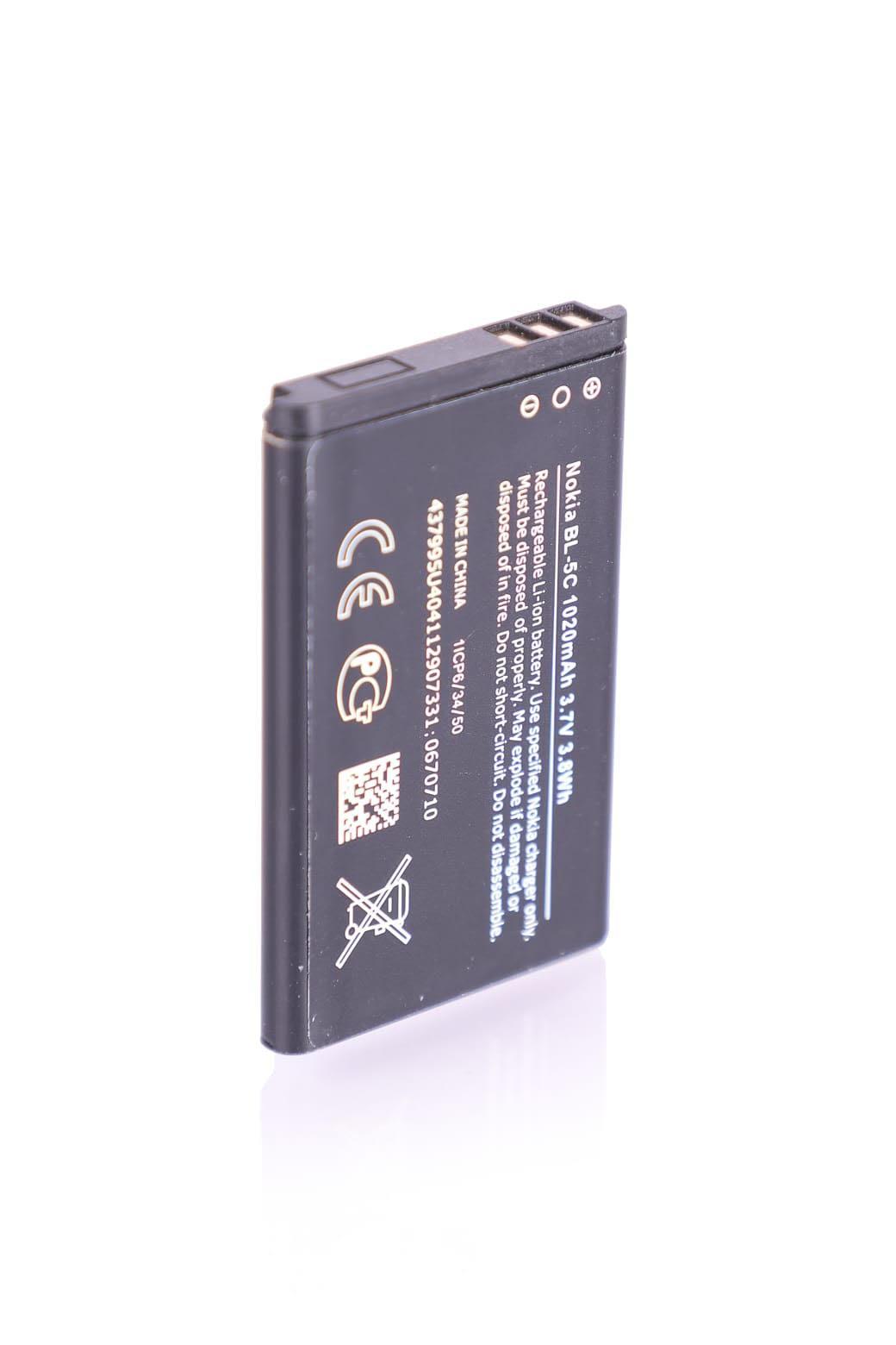 בטריה BL-5C מקורית לנוקיה NOKIA 208/C2/105/108 ולעוד הרבה דגמים
