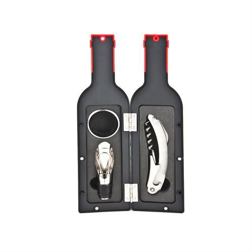 מארז אביזרי יין בצורת בקבוק
