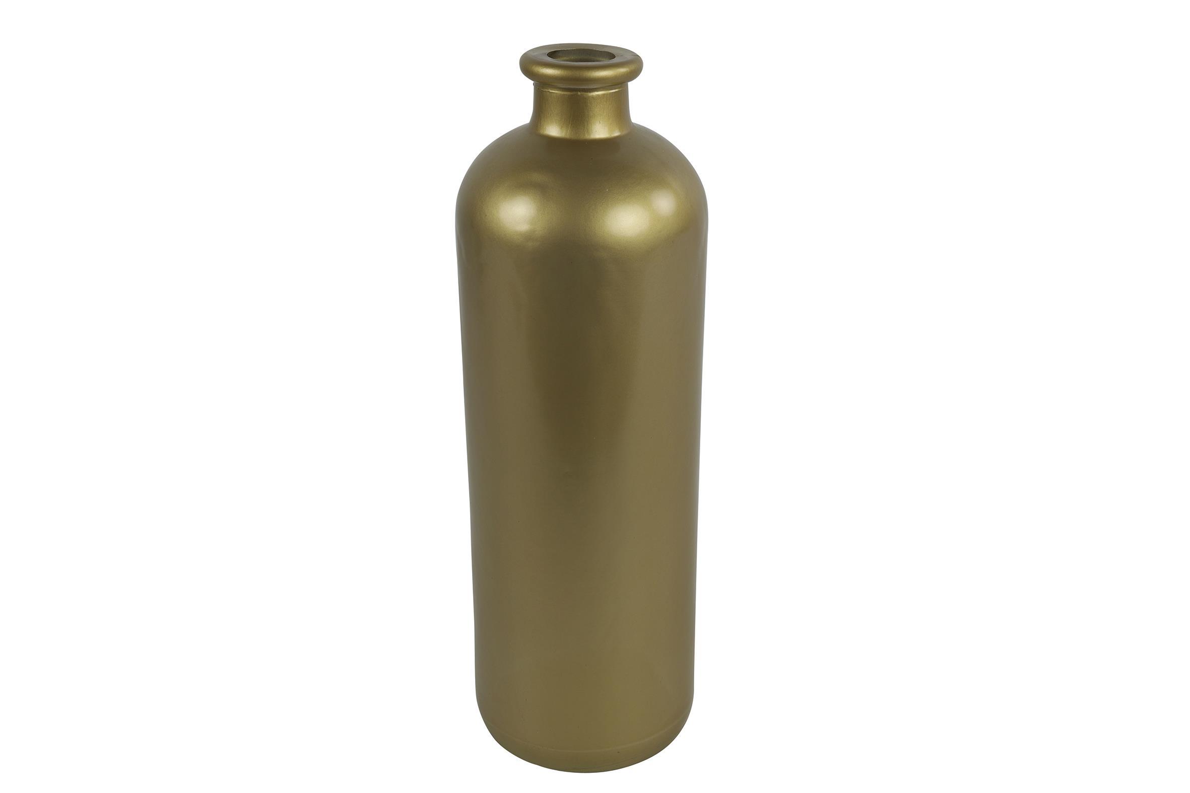 בקבוק זכוכית בגוון מוזהב L