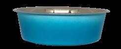 קערת מזון מעוצבת White Blue עם גומיות בתחתית בנפח 2.40 ליטר