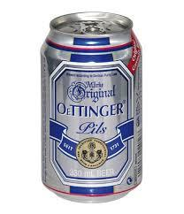 """בירה פחיות  אותינגר 330 מ""""ל  אפור פילס  גרמנית -  מבצע  2 קרטון * 24 יח'"""