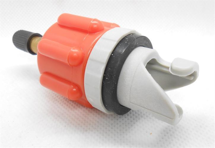 חיבור מהיר לניפוח סאפ סירות וכלי שיט מתנפחים לקומפרסור כולל ונטיל  צבע כתום
