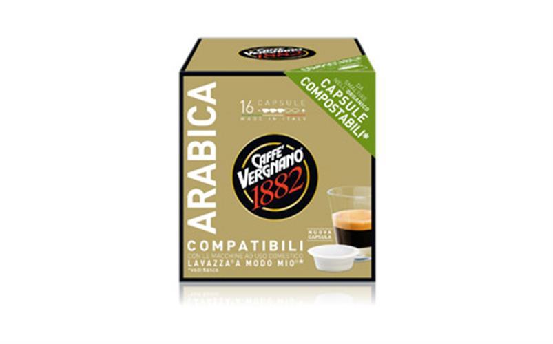 מארז קפסולות תואמות LAVAZZA 16 יחידות 1.6₪ ליחידה להכנת קפה אספרסו ARABICA בניחוח ערביקה A Modo Mio