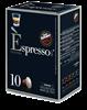 מארז קפסולות [10 יחידות 1.9₪ ליחידה] להכנת קפה אספרסו INTENSO [אפור] עוצמתי (תואמות Nespresso)
