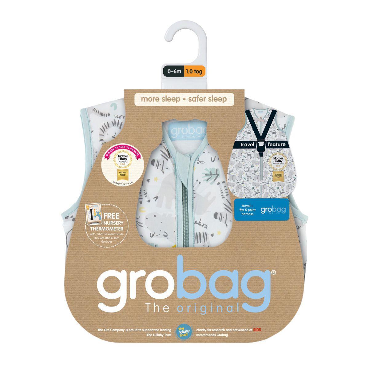 Grobag שק שינה מפלצת גונגל (0-6 חודשים / עובי 1)