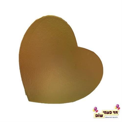 קופסא לב נפתחת זהב בינוני