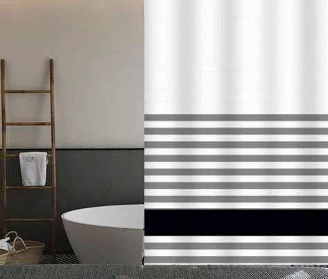 וילון אמבטיה מודפס דגם קלאסיק - Classic