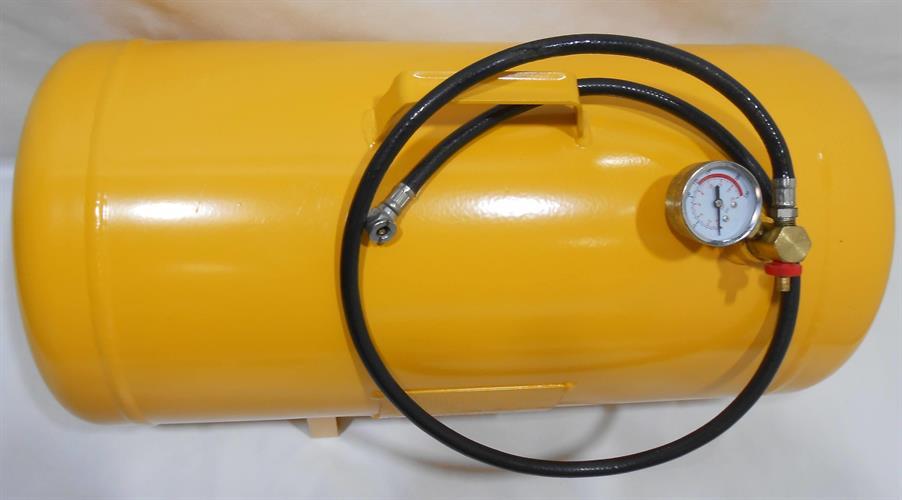 מיכל מחסן  אוויר נייד או קבוע עם צינור 42 ליטר מיכל צהוב PHD 039C-11