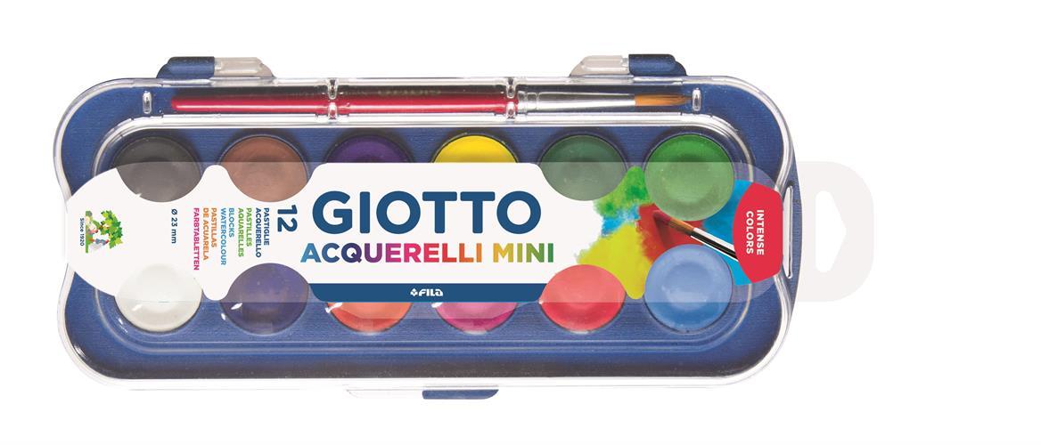 צבעי מים 12 יחידות Giotto